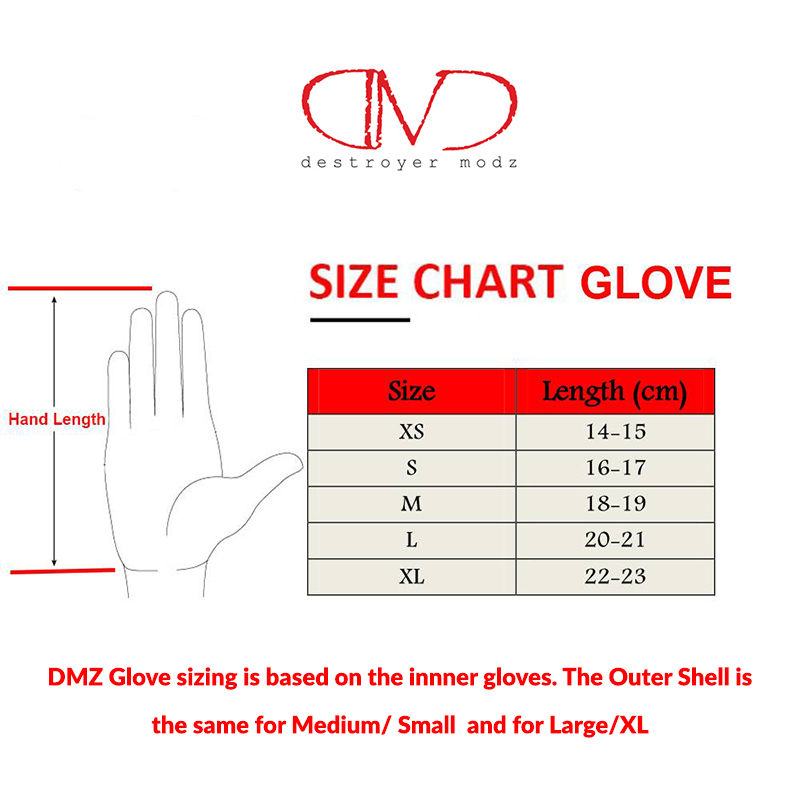 DMZ Glove Sizes